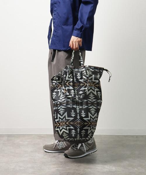 ∴【 PENDLETON × YURIE / ペンドルトン × ユリエ 】ペンドルトン × YURIE ドロー ユーティリティーバッグ2 DRAW UTILITY BAG-2 エコバッグ