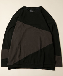 CASPER JOHN AIVER(キャスパージョンアイバー)のCASPER JOHN AIVER  斜め切替え・ロンT(Tシャツ/カットソー)
