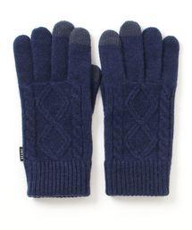 BEAMS(ビームス)の「BEAMS / ケーブル ニット グローブ(タッチパネル対応)(手袋)」