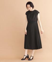 merlot plus(メルロープリュス)のサイドプリーツワンピース1665(ドレス)