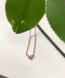 mint jam(ミントジャム)のK10 ピンクゴールド ダイヤモンド ネックレス(ネックレス)