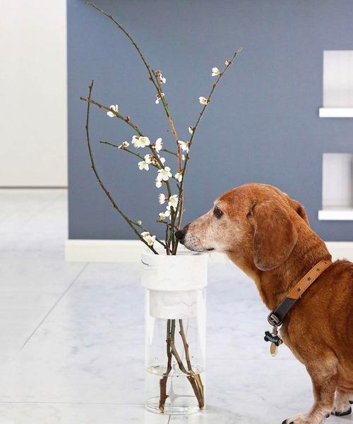 R-Noo<アールヌー>TARN-M フラワーベース セメント&グラス M