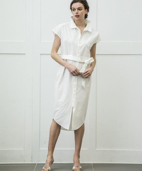 【STYLEBAR】シェルボタンシャツドレス