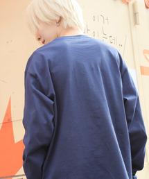 ギルダン ビッグシルエット USA ロングスリーブ Tシャツ カットソー L/Sネイビー