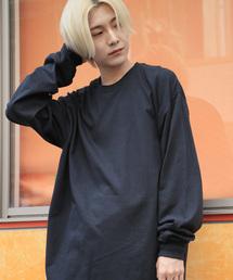 ギルダン ビッグシルエット USA ロングスリーブ Tシャツ カットソー L/Sブラック