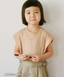 【coen キッズ / ジュニア】チビロゴ刺繍フレンチスリーブTシャツ