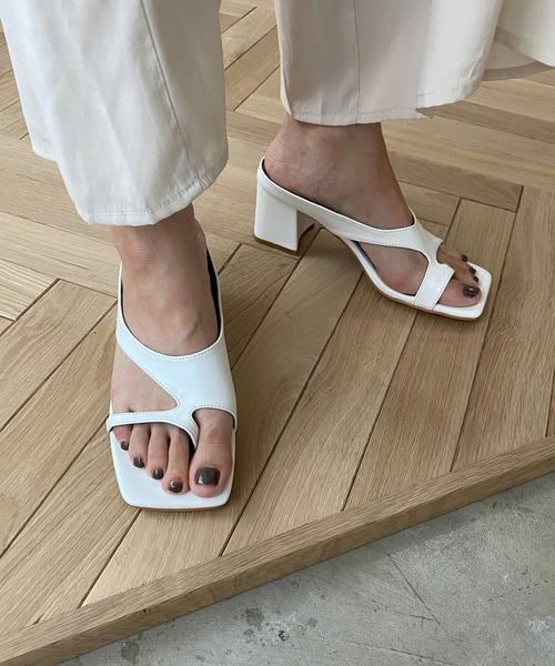 【chuclla】Asymmetry thongs sandal sb-6 chs74