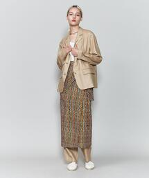 <6(ROKU)>BATIK PRINT MOTIF WRAP SKIRT/スカート
