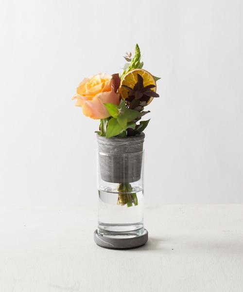 R-Noo<アールヌー>TARN-S フラワーベース セメント&グラス S