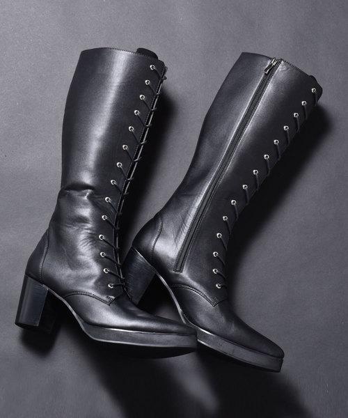 品質一番の endevice レースアップ エンデヴァイス/ High Heel Boots Lace Up Long/ Boots ハイヒール レースアップ ロング ブーツ(ブーツ)|endevice(エンデヴァイス)のファッション通販, 靴のオフサイド:fc9bb605 --- fahrservice-fischer.de
