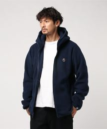 FLEECE ONE POINT ZIP HOODIE M(パーカー)