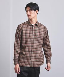 <UNITED ARROWS> WOOL チェック レギュラーカラーシャツ†◆
