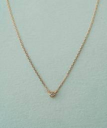 ete(エテ)のK10 レイヤー ダイヤモンド ネックレス(ネックレス)