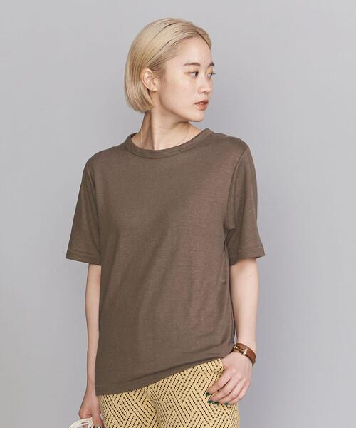 BY 麻ブレンドクルーネックTシャツ
