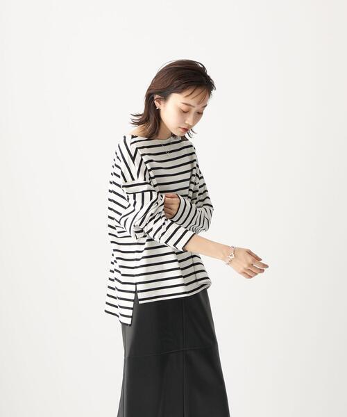 <CITEN(シテン)> コットン ワイドスリーブ Tシャツ / ロンT