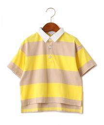 【キッズ】ワイドボーダー ラガーシャツ ショートスリーブ ◆