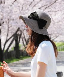 sankyo shokai(サンキョウショウカイ)のペーパーハット夏帽子(ハット)