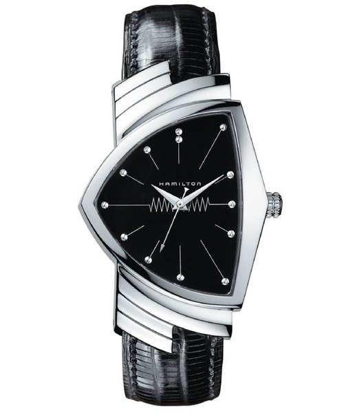 HAMILTON [ハミルトン] 腕時計 Ventura (ベンチュラ)  クオーツ 36.50MM レザーベルト ブラック×ブラック