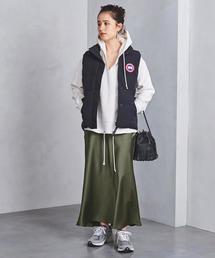 UWSC サテン マキシ丈 タイトスカート