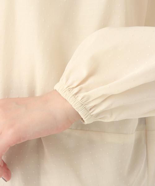 【DRESS】ドビーバックタックブラウス/812739