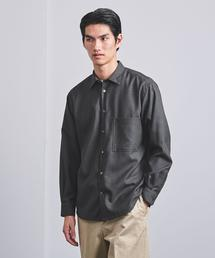 <UNITED ARROWS> WOOL レギュラーカラーシャツ†◆