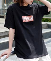 EDWIN/エドウィン BASIC PRINT H/S TEE BOXロゴプリント半袖Tシャツブラック系その他