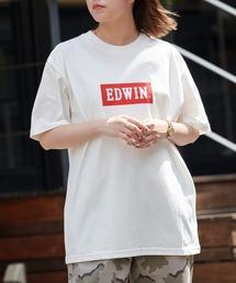 EDWIN/エドウィン BASIC PRINT H/S TEE BOXロゴプリント半袖Tシャツホワイト