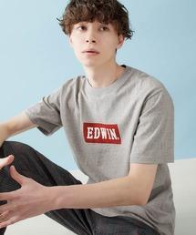 EDWIN/エドウィン BASIC PRINT H/S TEE BOXロゴプリント半袖Tシャツヘザーグレー