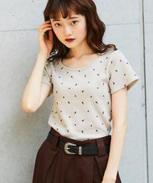 kutir(クティール)の花柄ワッフルTシャツ(Tシャツ/カットソー)