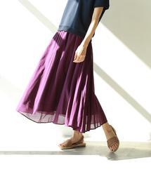 【ターコイズ・パープル先行販売・3/1ヒルナンデス!放映・『MORE』3月号掲載・Market】ソリッドマキシスカート