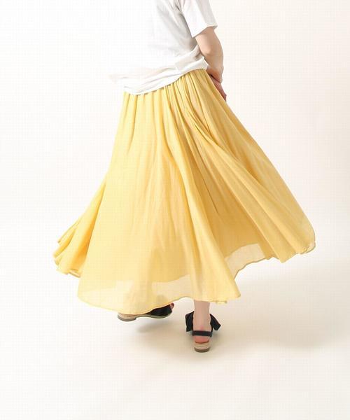 【『MORE』3月号掲載・Market】ソリッドマキシスカート