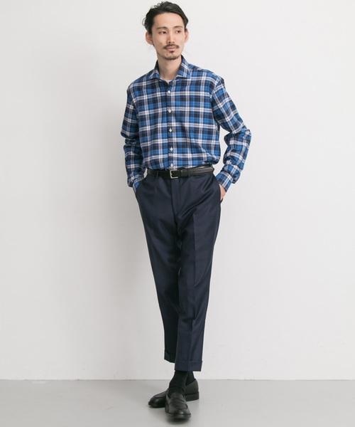 URBAN RESEARCH Tailor barbatiチェックビエラシャツ