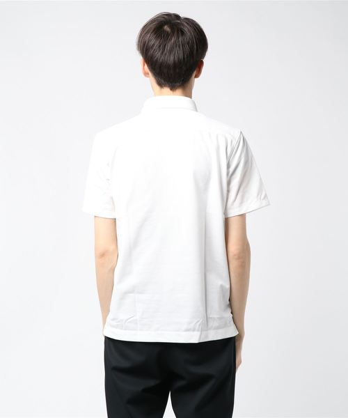 <ウォッシャブル>【WE SUIT YOU】コットン鹿の子バーズアイボタンダウンカラーポロシャツ