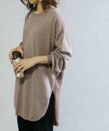 reca(レカ)の裾ラウンドロングニット(ニット/セーター)
