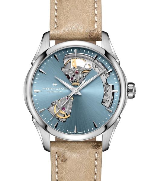 HAMILTON [ハミルトン] 腕時計 Jazzmaster (ジャズマスター) Open Heart オート 自動巻き 36MM アイスブルー×ベージュ