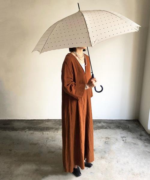 COMMON WARE(コモンウェアー)の「NT:スクエアドット 長傘(長傘)」|オフホワイト