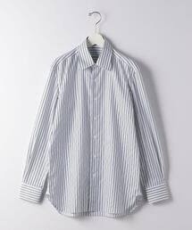 [ エリコ フォルミコラ ] ERRICO FORMICOLA ダブルストライプ ワイドカラーシャツ