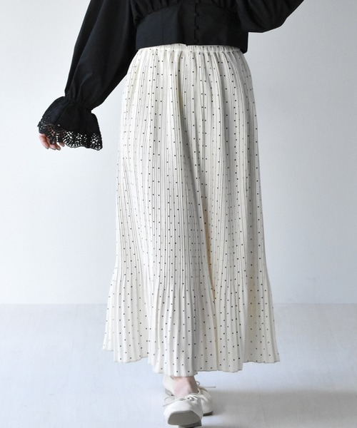 柄プリーツスカート