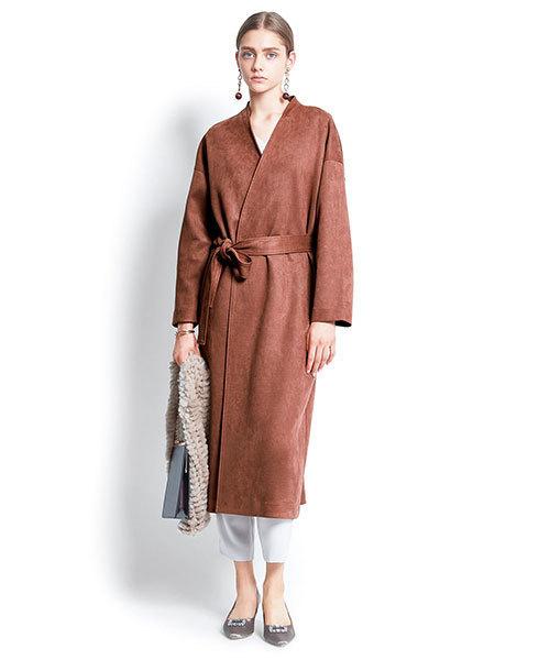 独特の上品 【セール】フェイクスエードコート(ステンカラーコート) AIMER(エメ)のファッション通販, フラワーショップ ファーナム:664efa0b --- genealogie-pflueger.de