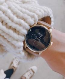 ARMITRON NEWYORK(アーミトロンニューヨーク)のARMITRON 腕時計 アナログ レザーウォッチ 3サブダイヤル(腕時計)