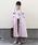 AZUL ENCANTO(アズールエンカント)の「【静電気 軽減効果】ニュアンス ロングトレンチコート(トレンチコート)」|ライトピンク