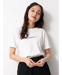 E hyphen world gallery(イーハイフンワールドギャラリー)のサイン風ロゴTシャツ 〇(Tシャツ/カットソー)