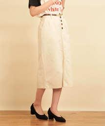 綿サテンナロースカートオフホワイト