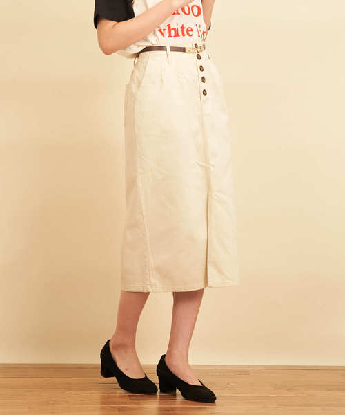 綿サテンナロースカート