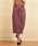 Emsexcite(エムズエキサイト)の「綿サテンナロースカート(スカート)」|ダークパープル