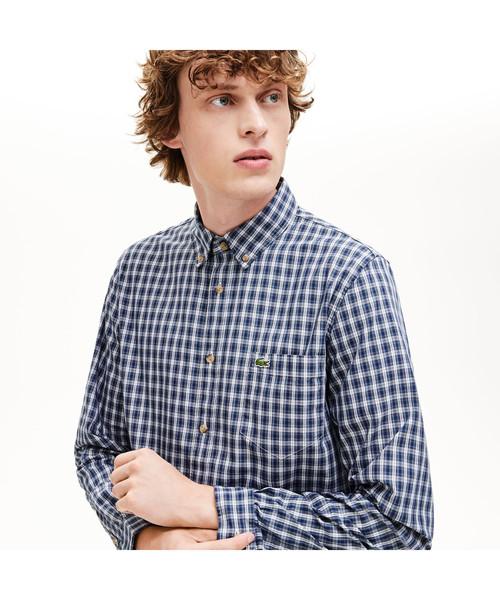 代引き人気 オックスフォードチェックボタンダウンシャツ(シャツ/ブラウス)|LACOSTE(ラコステ)のファッション通販, テシカガチョウ:e8f180e4 --- pyme.pe