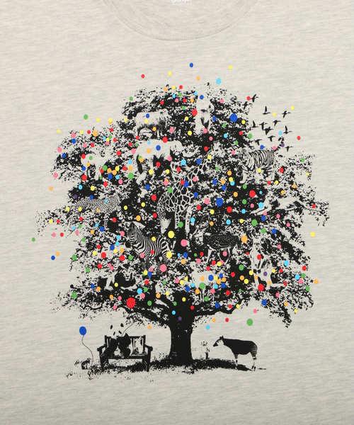 ベーシックTシャツ/バルーンアンドアニマルツリー