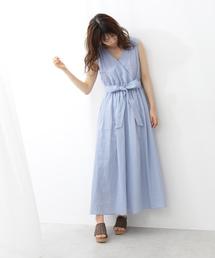 PROPORTION BODY DRESSING(プロポーションボディドレッシング)の2way麻ロングドレス(ワンピース)