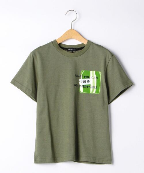 PVCポケットロゴプリントTシャツ