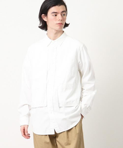 【 CAL O LINE / キャル オー ライン 】CHAMBRAY PAINTER SHIRT シャンブレーペインターシャツ CL201-018・・